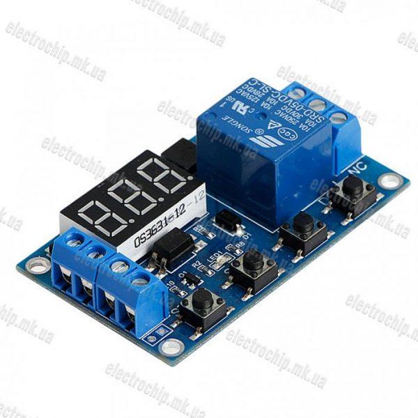 Tsiklicheskiy taymer, rele zaderzhki vremeni, modul XY-J02 USB. Programmiruemyiy