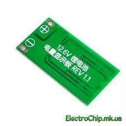 LED indikator zaryada/razryada akkumulyatorov li-ion, li-pol 3S 12.6V_1