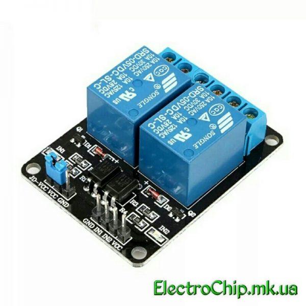 2-kanalnyiy modul rele 5V dlya Arduino PIC ARM AVR_1