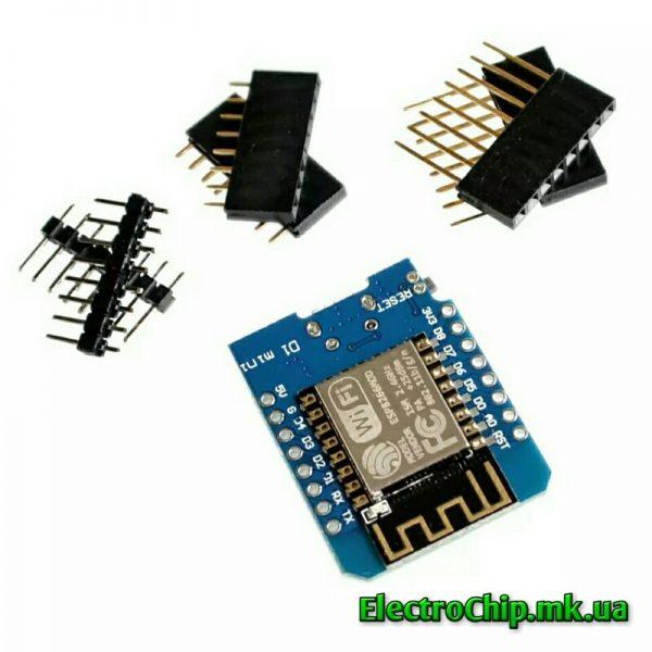 BMS 2S 5A FD-2S-2 kontroller zaryada, WeMos D1 mini, ESP8266, CH340_7_ElectroChip.mk.ua