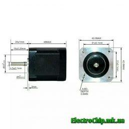 Shagovyy motor NEMA 17HS8401SY-DP, 59Ncm_5